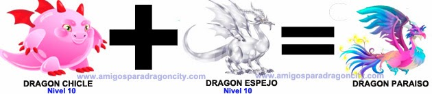como sacar el dragon paraiso en dragon city combinacion 1
