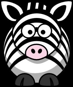 Desenho de zebra colorida