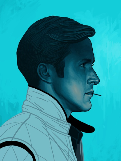 Ryan Gosling by Mike Mitchell