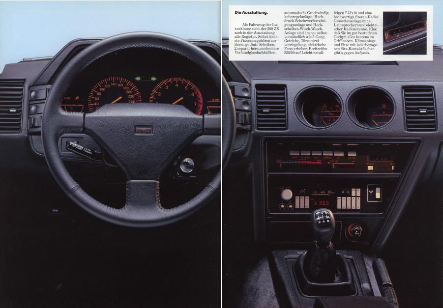 日本車, 日産, クラシックカー, Nissan 300ZX Z31 Fairlady Z, stary japoński samochód, youngtimer, JDM, sportowy, zdjęcia, fotki, wnętrze, interior
