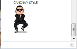 Gangnam Style PSY on Facebook Chat Window