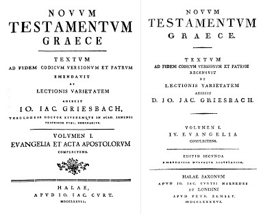 Griesbach, Title pages 1777 and 1796
