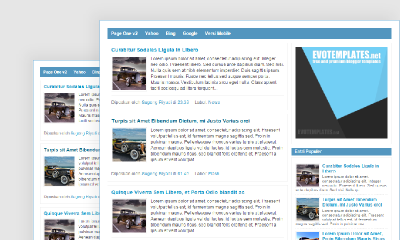 Download Pageone v2 Blogger Template - Mas Sugeng