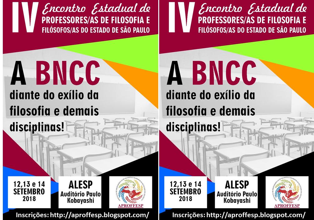 APROFFESP: IV ENCONTRO ESTADUAL DE PROFESSORES/AS DE FILOSOFIA E FILÓSOFOS/AS DO ESTADO DE SÃO PAUL