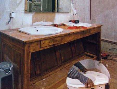 Mueble de ba o reciclado muebles antiguos - Muebles antiguos para banos ...