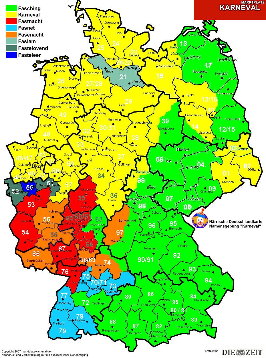 Landkartenblog: Deutschlandkarte des Karnevals zeigt wie der ... - Atomkraftwerke In Deutschland Karte