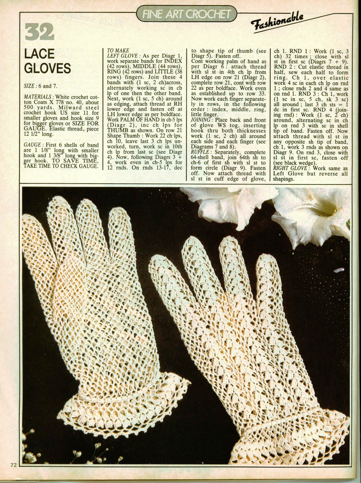 Vintage Crochet Gloves Free Pattern Gifts Shop