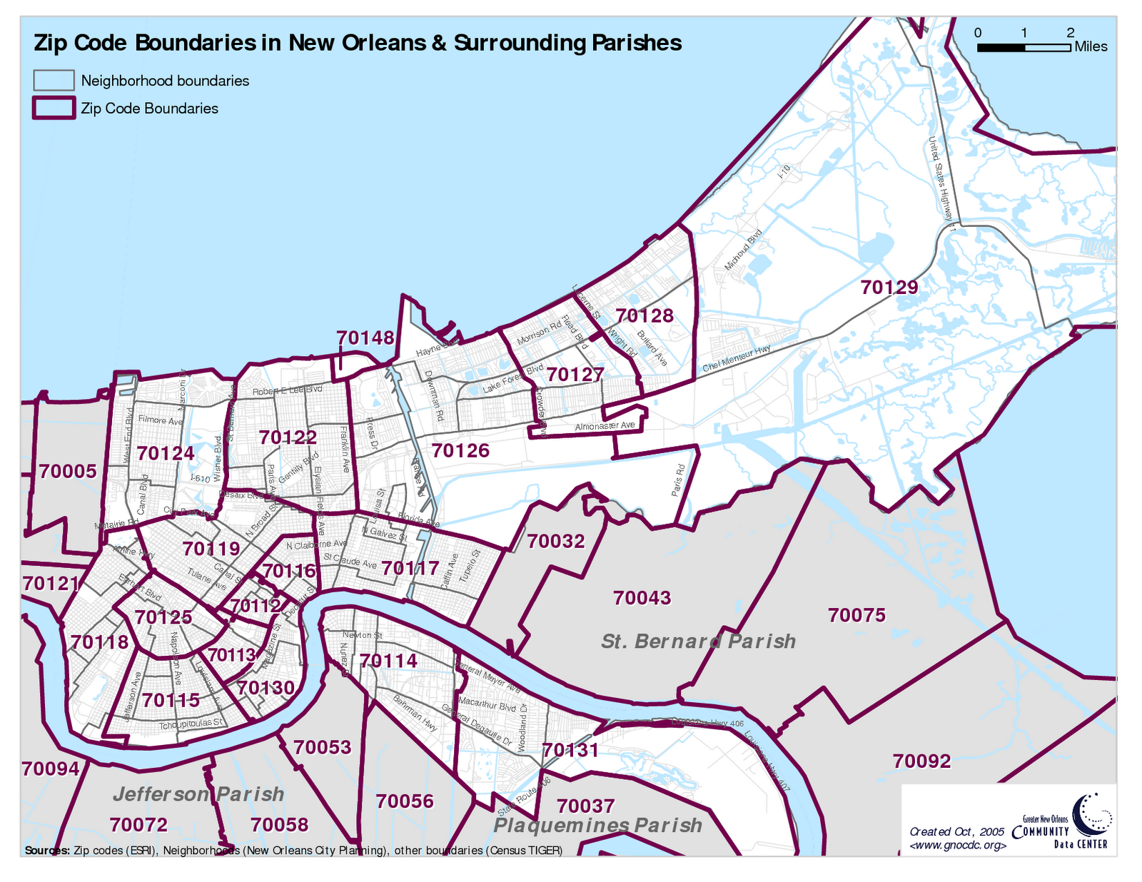 How Do We Map New Orleans Let Us Count The Ways NOLAcom Homes - Us zip code la