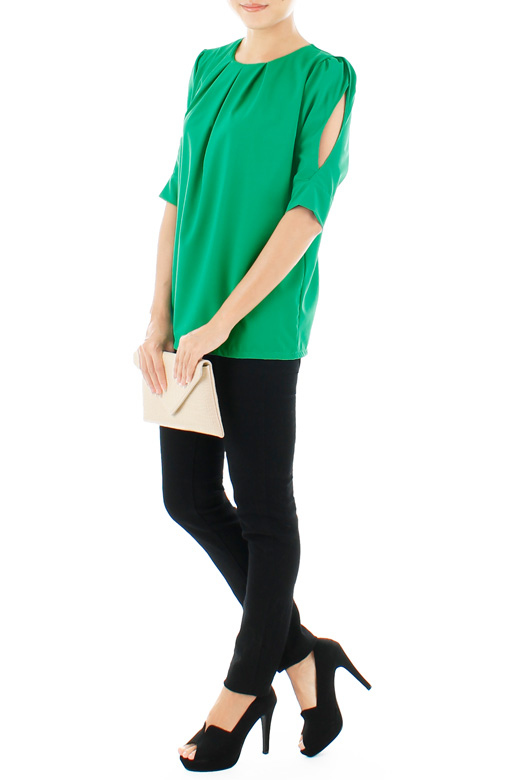 Keira Cutout Blouse - Green