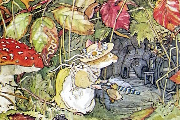 1:12 SCALE MINIATURE BOOK POPPYS BABIES BRAMBLY HEDGE