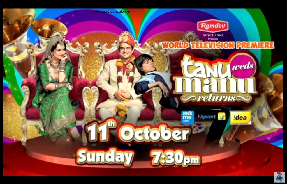 Tanu Weds Manu Returns ZeeTv Upcoming Movie Premiere Story