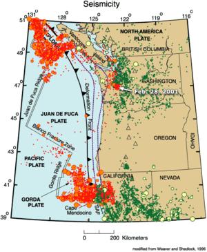 Falla de Cascadia científicos alertan: aumentan sismos frente a costa de USA 300px-Juan-de-fuca-plate