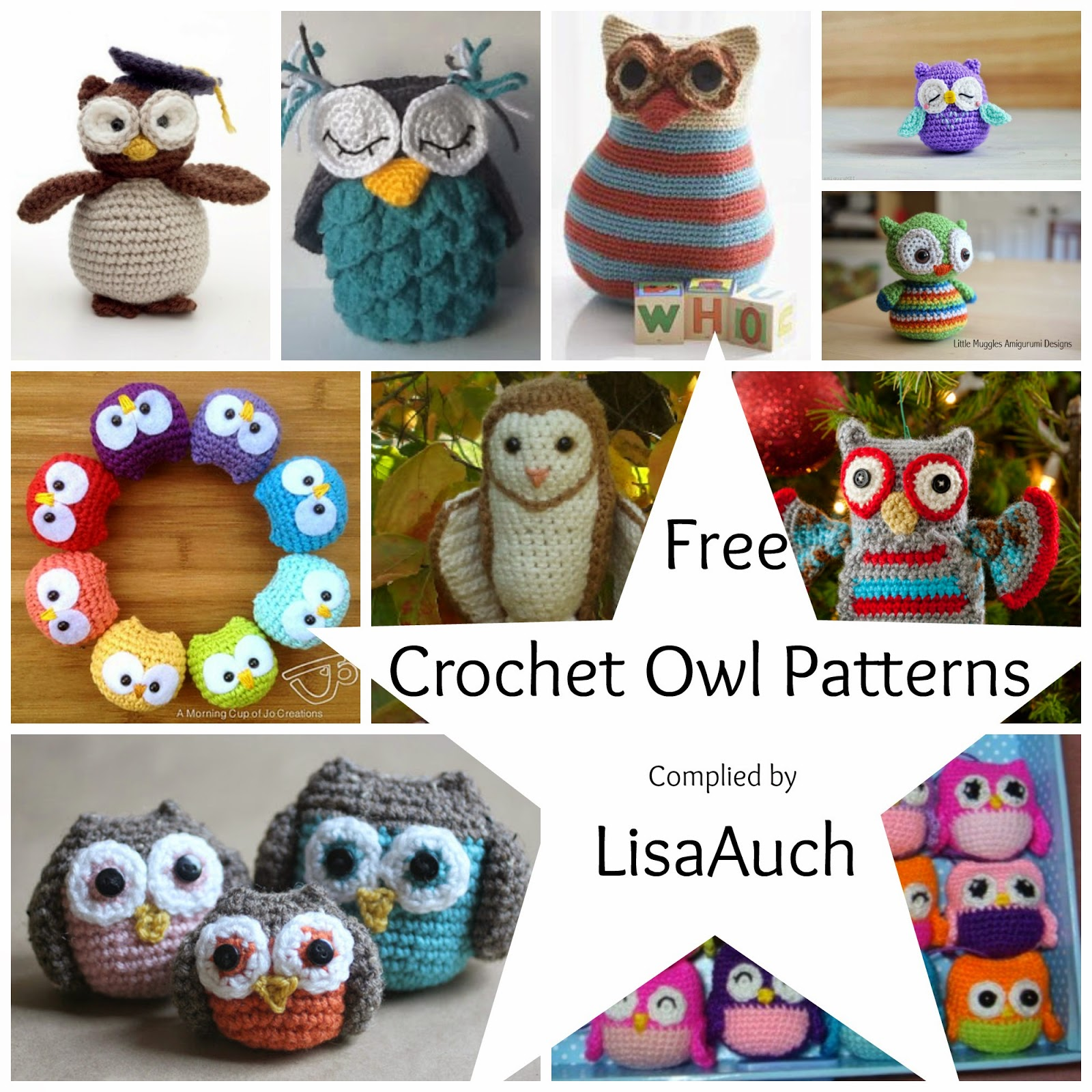 Free Crochet Owl Patterns Free Crochet Patterns Owl Patterns Owl amigurumi toy patternsFree Crochet Patterns Owls Owl amigurumi toy patterns
