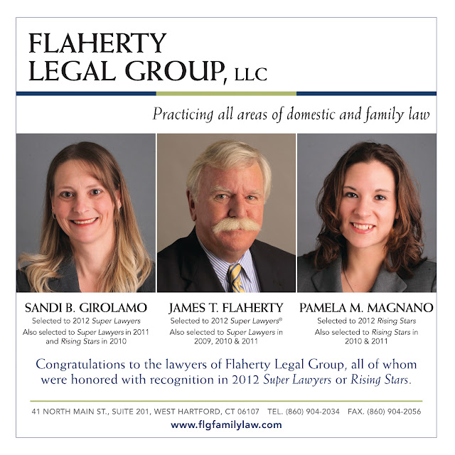 Attorneys James Flaherty, Pamela Magnano and Sandi Girolamo of Flaherty Legal Group in West Hartford, CT selected to Super Lawyers and Rising Stars 2012.
