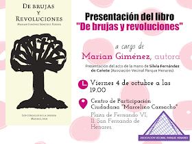 """Presentación del libro de Marian Giménez """"De brujas y revoluciones"""" en San Fernando de Henares"""