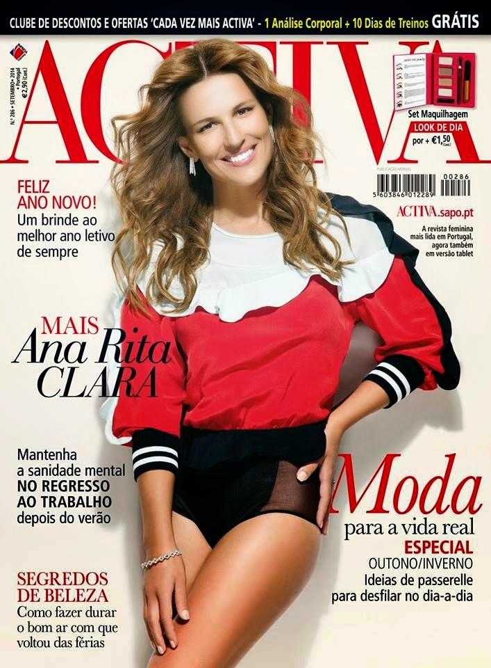 Ana Rita Clara - Activa Magazine, Portugal, Setembro 2014