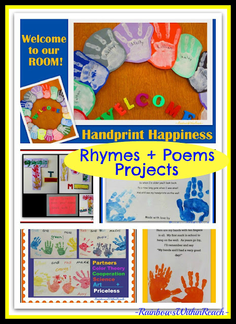 photo of: Handprint Poems, Rhymes and Art Projects (RoundUP via RainbowsWithinReach) 