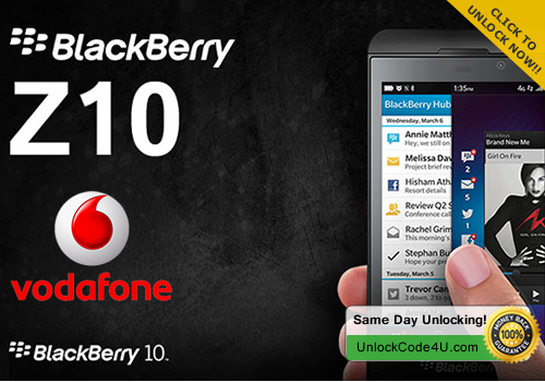 Factory Unlock Code for BlackBerry Z10