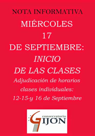 Iniciamos el curso 2014-15 en el Conservatorio de #Gijón