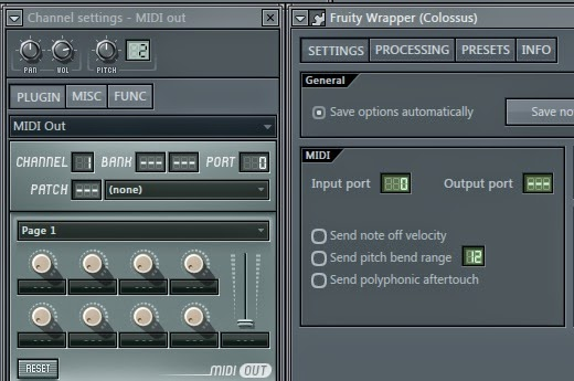 Cara setting vst plugin channel sound ke midi out