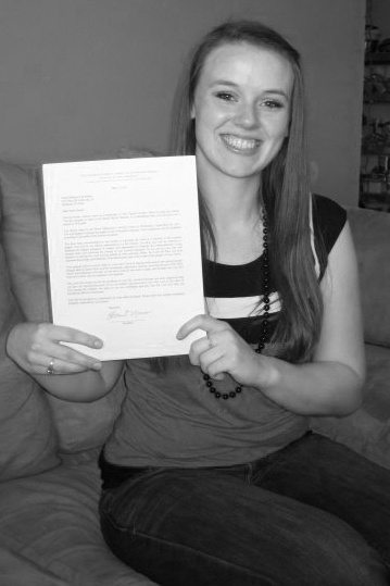 Sister Nelson with her mission call!