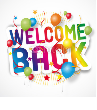 Dynamic image pertaining to welcome back sign printable