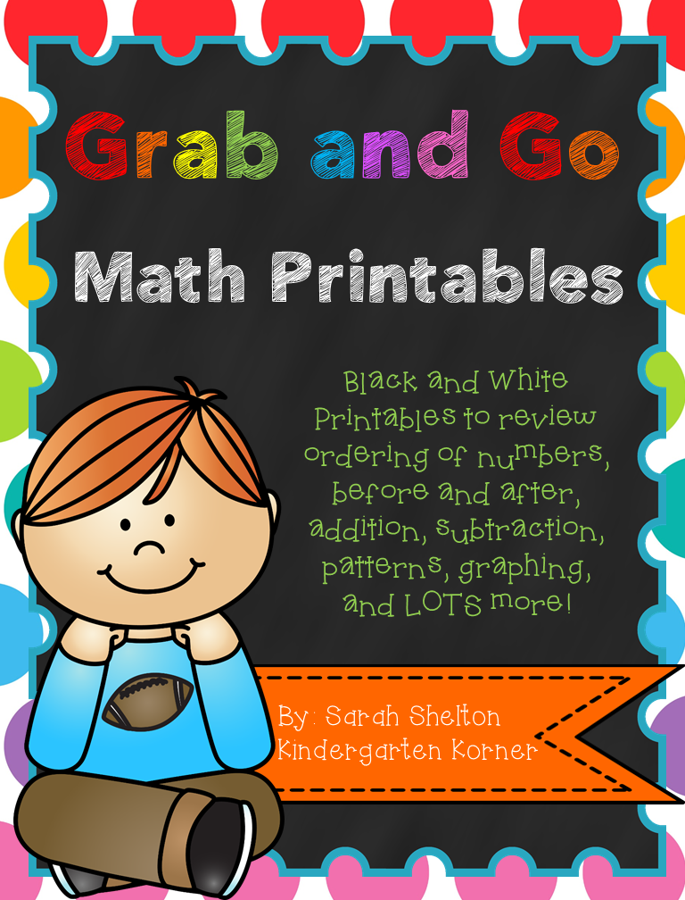 http://www.teacherspayteachers.com/Product/Grab-and-Go-Math-Printables-Numbers-1-20-1368971