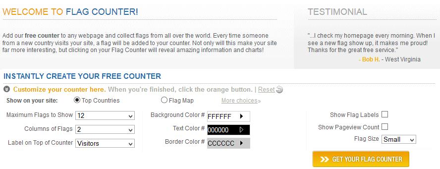 Menampilkan Jumlah Visitor Blog Dengan Flag Counter