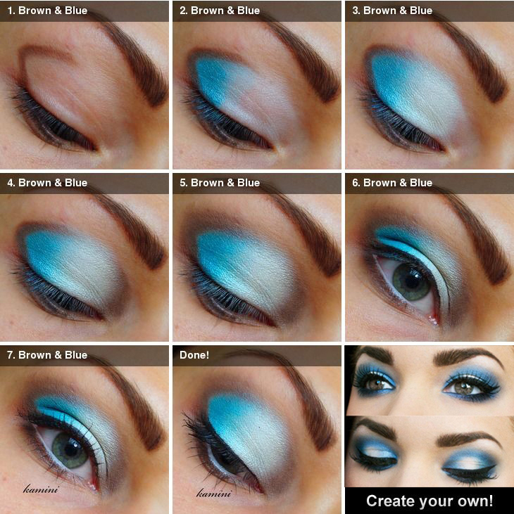 How do you apply smokey eye makeup