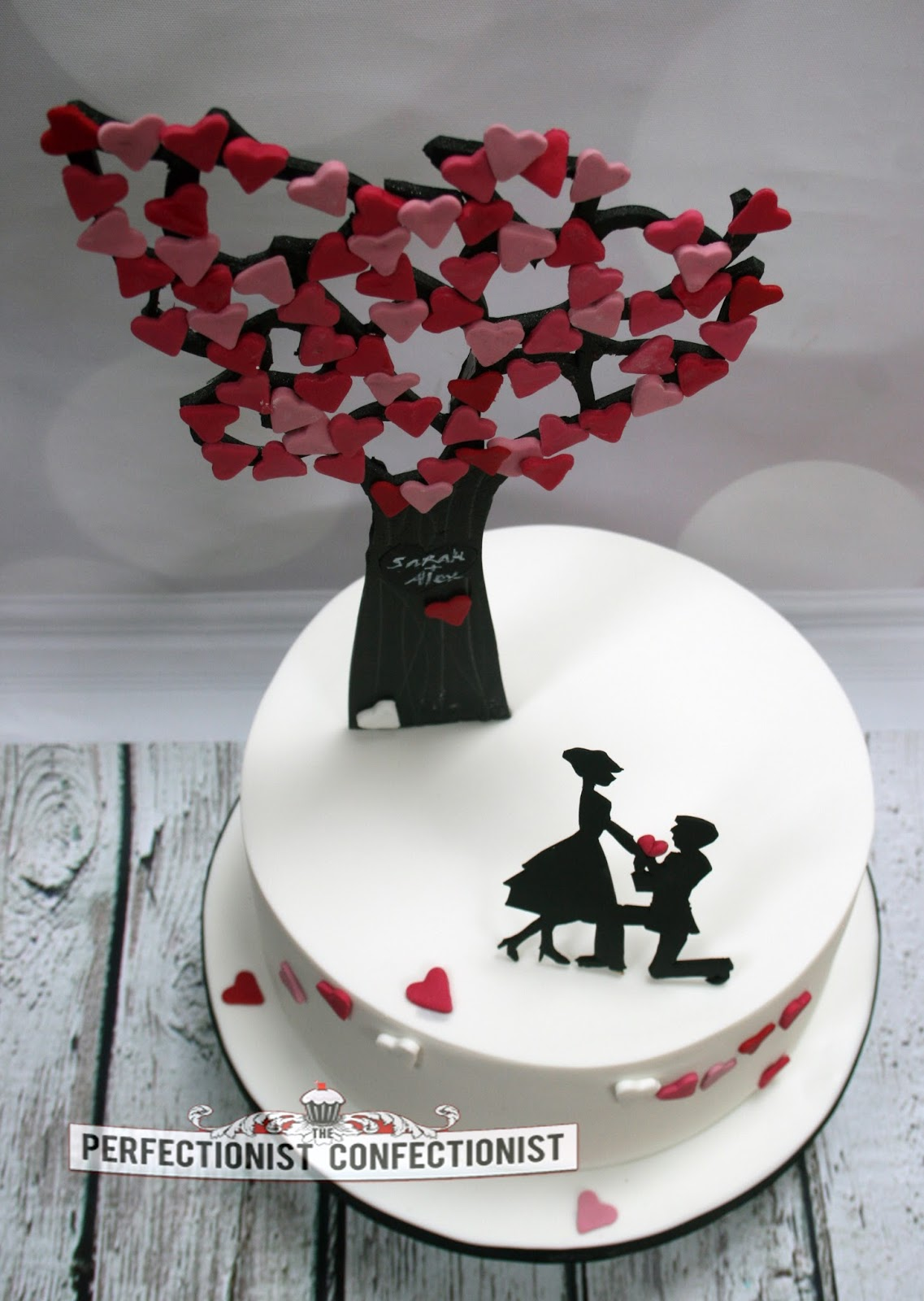 Cake Decorations For Engagement : The Perfectionist Confectionist: Sarah and Alex ...