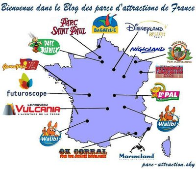 carte de france walibi