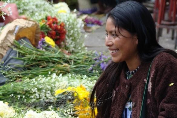 Vendedora de Flores del mercado de Solola