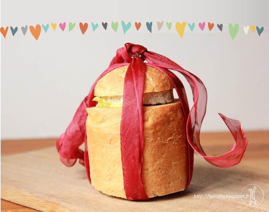 Connu les Girafes: pain de mie surprise pour la Saint Valentin CK71