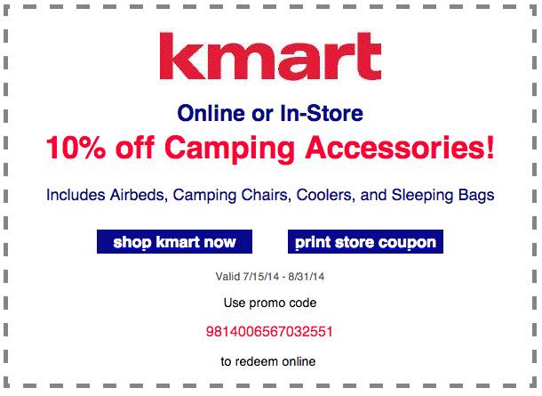 Coupon codes for kmart