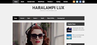 Haralampi Lux Blogger Template is a Clean Wordpress To Blogger Converted Blogger Template