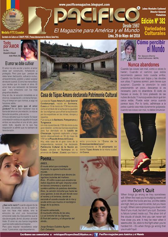 Revista Pacifico Nº 382 Variedades Culturales