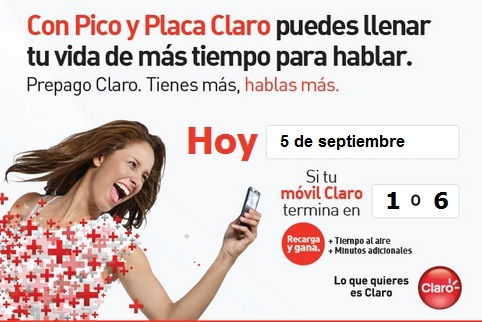 pico y placa claro colombia hoy miercoles 5 septiembre 2012 hoy es dia
