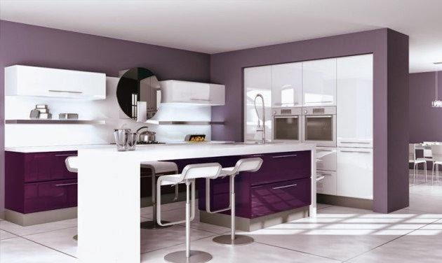 ديكور مطبخ أرجواني