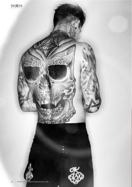 Stephen Hendry Model back tattoo