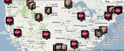Fans of Guy Fieri: Food Network Local, map of featured restaurants Diners Drive Ins And Dives Road Map on