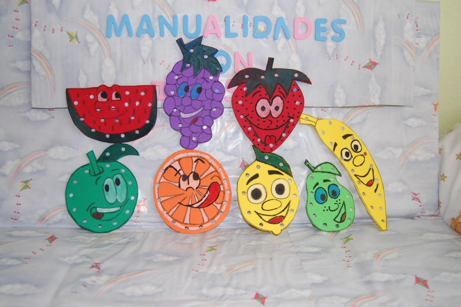 Manualidades con ilusion coser frutas - Manualidades con cajas de frutas ...