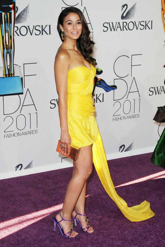 Emmanuelle Chriqui   2011 Cfda Fashion Awards