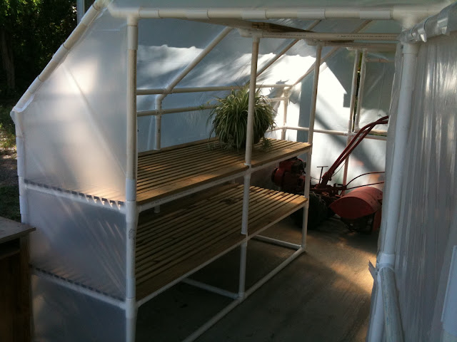 Pdf diy pvc greenhouse shelf plans download roll top deck for Inexpensive greenhouse shelving wood
