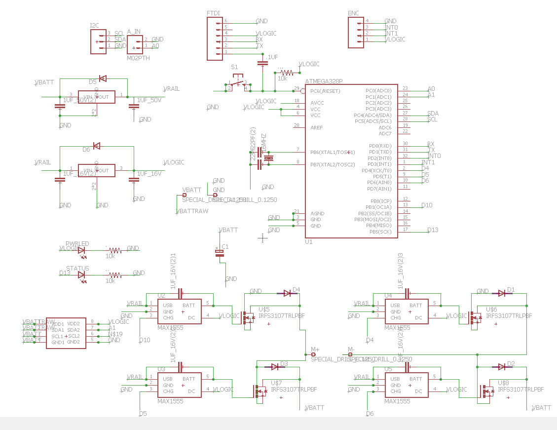 Kyle Pollard Mechetroller In Progress Maxim Max1555 Battery Charger Pin Description And Datasheet Encoder Input Is Now Supported Routed To The 328 Interrupt Pins Logic Side Layout Also More Clean My Opinion