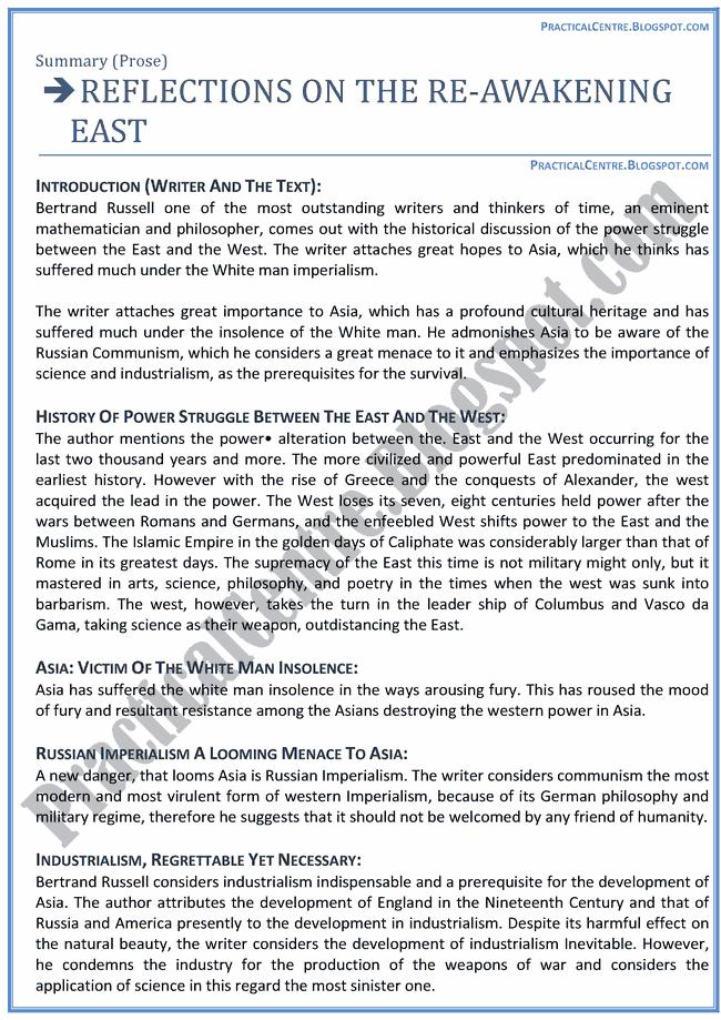 Reflections-On-The-Re-Awakening-East-Prose-Chapters-Summary-English-XII
