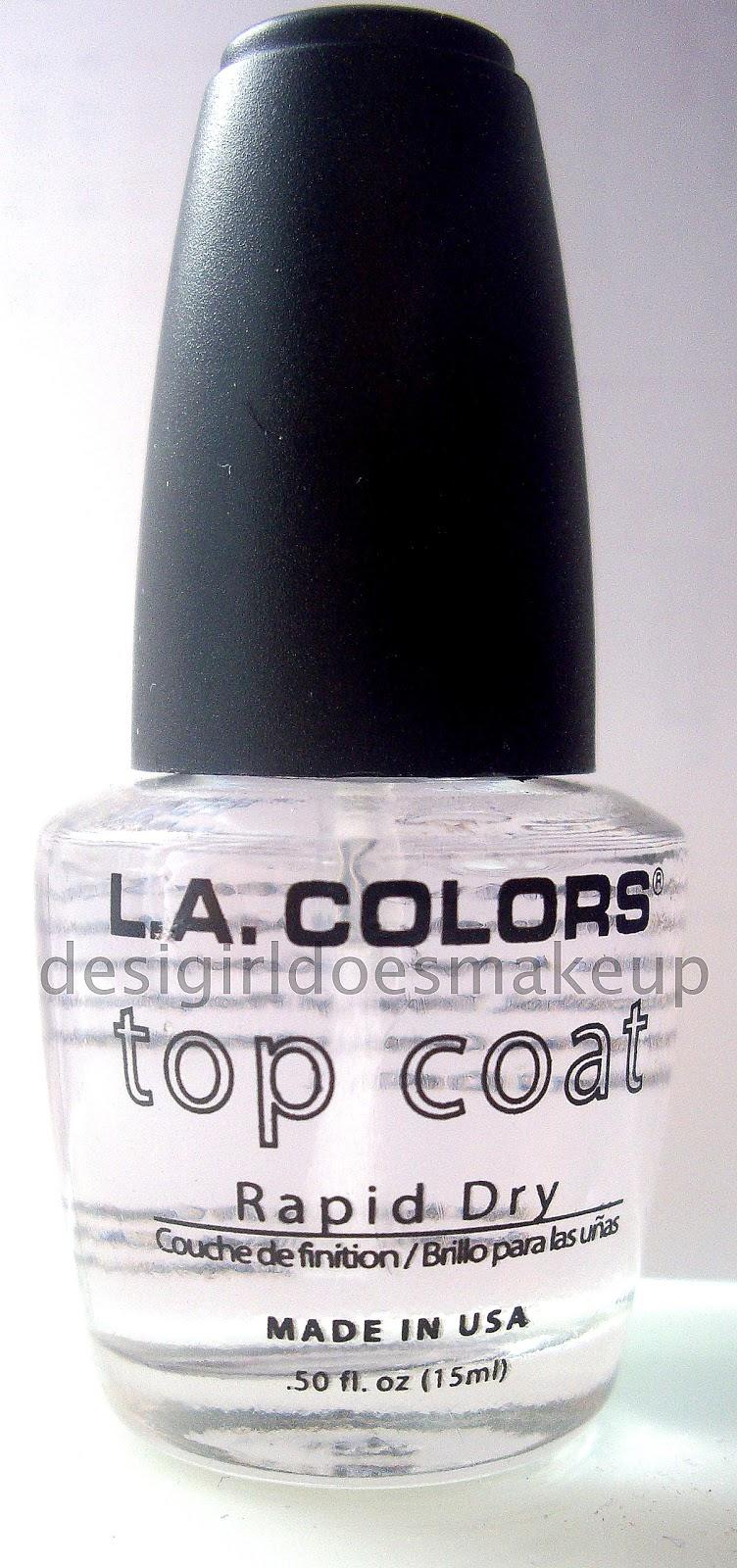 Desi Girl Does Makeup: L.A. Colors Top Coat