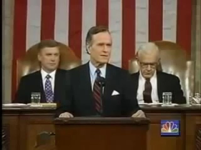 George Bush Sr. New World Order Live Speech