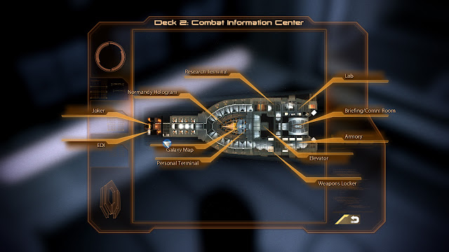 Mass Effect 2 Normandy Deck 2 Combat Infomation Center Map