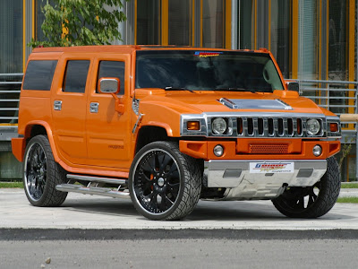 Orange Hummer H2 Geiger Wallpaper