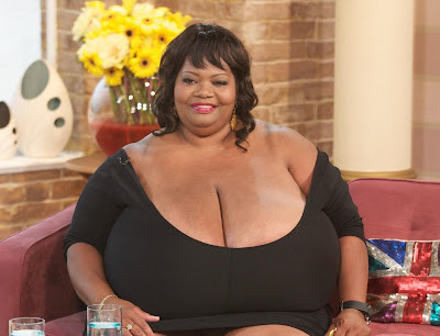 woman with worlds largest natural breasts